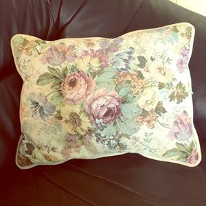 Other - Embroidered & velvet fabric pillow Vintage